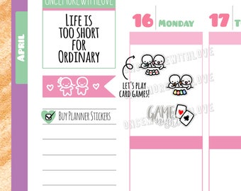 Munchkins -  Card Games Game Night Planner Stickers (M352)