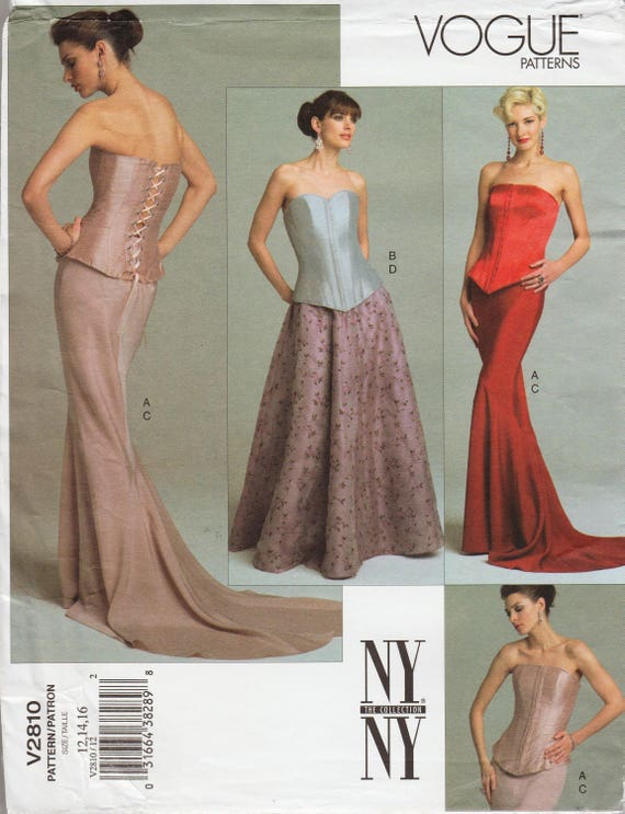 Vogue 2810 // New York Collection Sewing Pattern // Bustier Corset ...