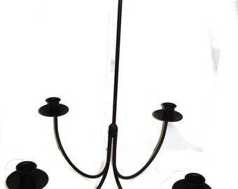 Wrought Iron 4 Arm Candle Chandelier Candolier  DIY Wedding   Hanging Light  Fixture   Indoor
