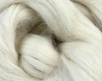 White Suri Alpaca Top Two Ounces for Felting, Spinning