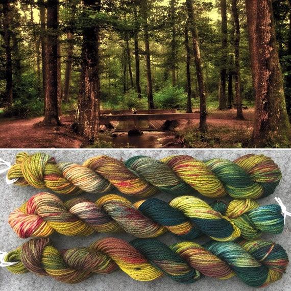 Autumn is Coming 20g Mini Skein, indie dyed merino nylon sock yarn