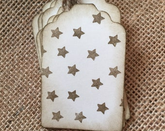 Stars gift tags | stars gift wrap | rustic gift wrap | military gift wrap | army gift tags |  hang tags |  tags | veterans gift Tags