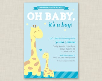 Giraffe Baby Shower Invitation / Printable Baby Shower Invitation / Giraffe Invitation