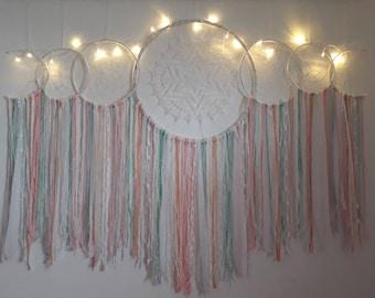 white dreamcatcher,dreamcatcher, dream catcher,wall hanging,  bohemian dream, home decor, wall hangings, dreamcatchers, hippie decor,