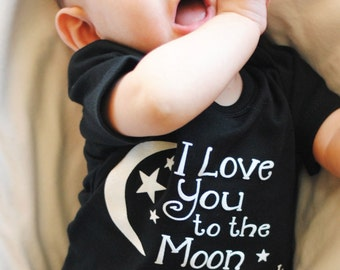 Baby - I love you to the Moon and Back, Baby gender Neutral Gift, Baby - I love you to the Moon and Back