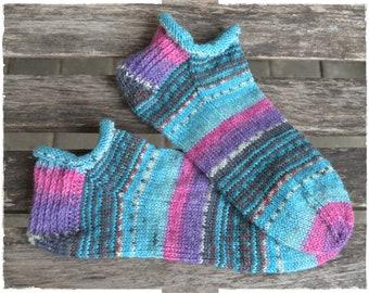 Sommer Sneaker Socken handgestrickt Gr. 40/41