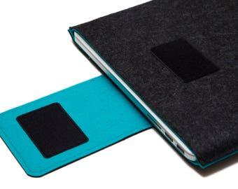 """15"""" pouces MacBook Pro manche, un portable 15"""" cas, MacBook pro housse - gris foncé et Turquoise - Weird.Old.Snail"""
