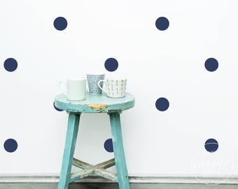 Polka Dots 7.5cm | Wall Decal Circles Vinyl Sticker Spots | 3 Inches | Set of 20 | 40 | 60_For Nursery, Baby OR Kids Room_ID#1305