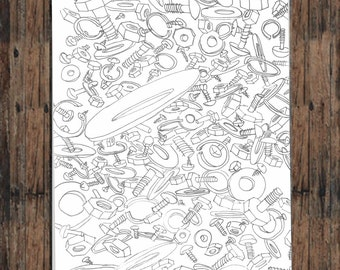 Coloring Pages, Coloring Pages Download, Coloring Pages Printable, Digital Download, Adult Coloring Pages, Farm Coloring Page