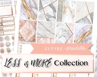 PRINTABLE PLANNER STICKERS, Marble Planner Stickers, Marble weekly kit, Marble Printable Stickers, Printable weekly kit, full box printable