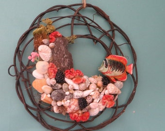 Open weave Beach Wreath _ Beach Decor