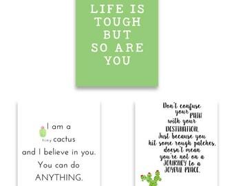 Growth Mindset Classroom Art Prints, Cactus Classroom Wall Art, Teacher Art Prints, Prints for Teachers, Cactus Classroom Decor