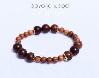 Bayong Wood Mala Bracelet