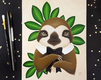 Sloth - original painting by Grelin Machin