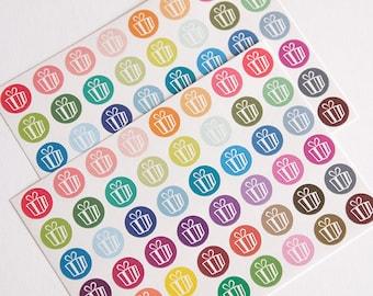 48 matte birthday stickers, party sticker, planner stickers, birthday cupcake, birthday label eclp filofax happy planner kikkik