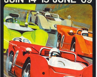 Vintage Reproduction Racing Poster 1969 Can-Am Racing