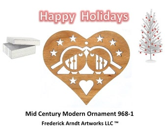 968-1 Mid Century Modern Christmas Ornament