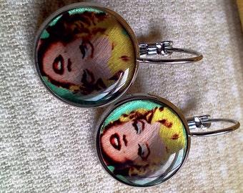 Earrings Marilyn Monroe Silver