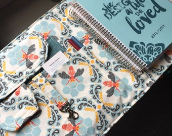 Desktop Travel Note Planner Book Spiral Notebook File Folder Organizer Folder Made to Order Fits Erin Condren Life Planner