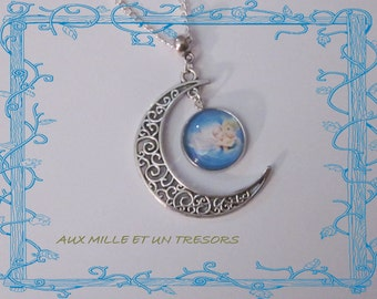 Necklace the fairy bell on the moon