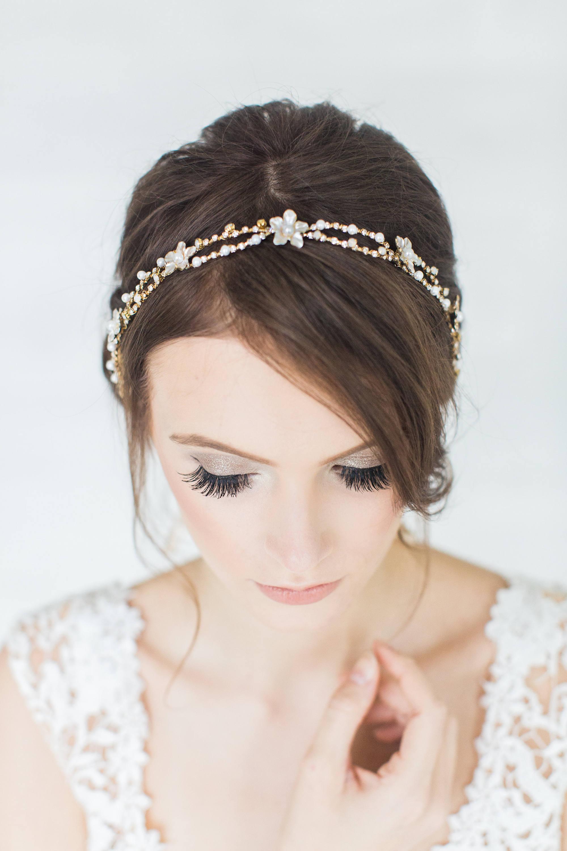 Goldene Hochzeit Haarrebe Kopfschmuck Brautschmuck Band