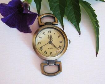Runde Zifferblatt Uhr Bronze Vintage für Erstellung der Uhr