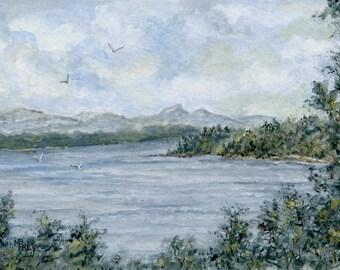 Lake James/Table Rock Mtn./Original Painting