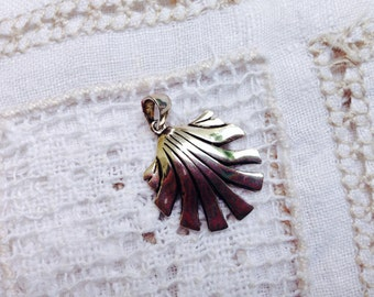 Scallop Shell Pendant  in Sterling silver -on the Camino