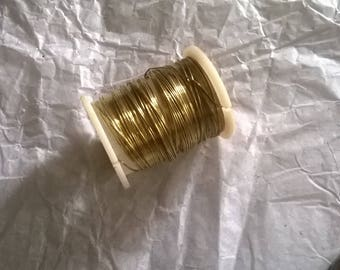 178) golden yellow brass wire