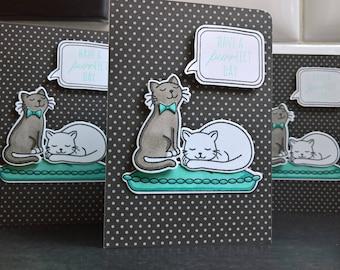 Kitty Birthday Card, Cat Lover Card, Cat Greeting Card, Happy Birthday Card