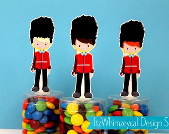 London UK Guard Candy Favor Containers