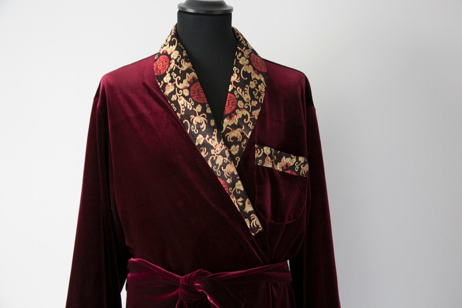 Beautiful Silk Velvet Dressing Gown Vignette Wedding And