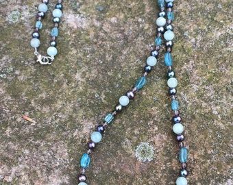 Gorgeous Apatite and Aquamarine Necklace