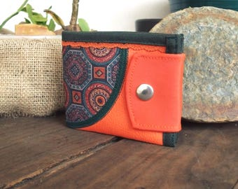 Curve, Mandala, Limited Edition, Handmade Personalized Wallet, Vegan Friendly, Vegan Leather Wallet, Leather Wallet, Unique Wallet, UNUSUAL