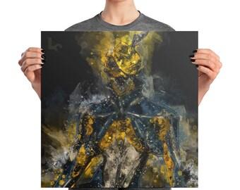 MESA WARFRAME Square Poster Print | Game Art | Man Cave