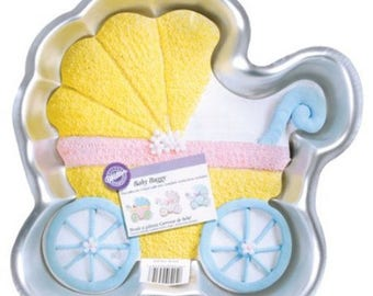 Lovely Baby Buggy Pan   Wilton   2105 3319