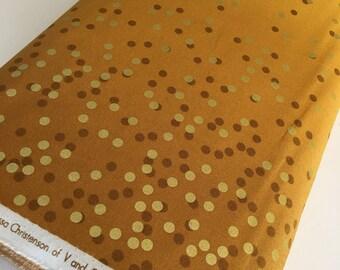 Ombre Confetti fabric by Vanessa Christenson, Gold Metallic Decor, Wedding fabric, Quilting, Ombre Confetti in Mustard, Choose The Cut