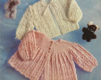 Childrens Matinee Coats  Knitting Pattern.