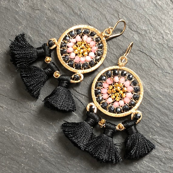 Carnival Earrings in Black