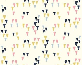 Birch Fabrics Organic  Wildland Poplins -   Arrowhead White
