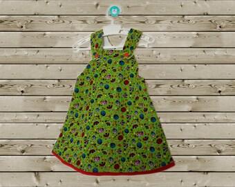 Little girls dress with ladybug print