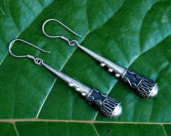 Vintge Balinese Sterling Earrings