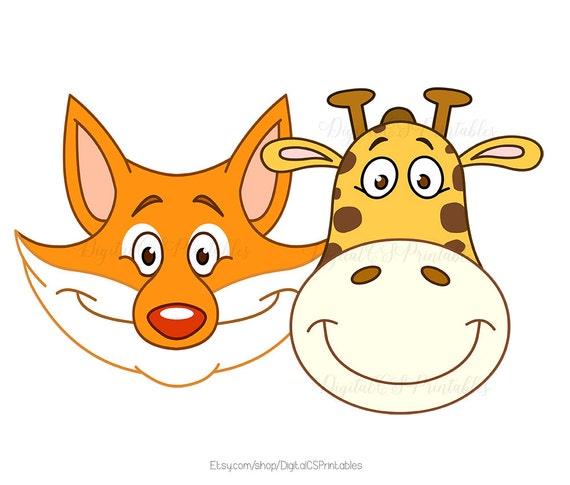 cute clipart cute animal clipart safari animal clipart forest animal rh etsystudio com