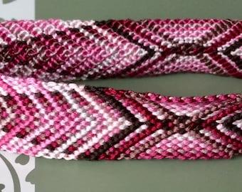 Mocha-Rose Quartz Deluxe Handmade Bracelet/Anklet