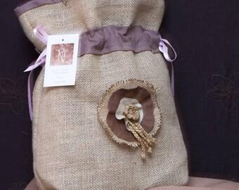 handmade pouch pouch bag cotton jute bathroom decor France