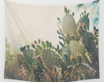 cactus photograph cactus tapestry southwestern decor Arizona tapestry Arizona photograph wilderness tapestry boho wall art