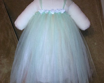 Mint Green and Peach Easter / Spring Tutu Dress