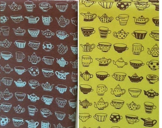 Japanese Cotton Fabric - Teapots - Cosmo Textile Japan