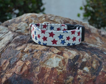 The 50 Stars Dog Collar (Martingale or Buckle)