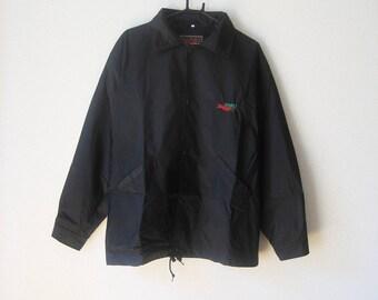 VINTAGE PMU Sports Bar Horse Racing Black Light Jacket WIndbreaker - Size M/L